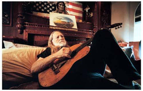 Willie Nelson  Laid Back Rare Poster