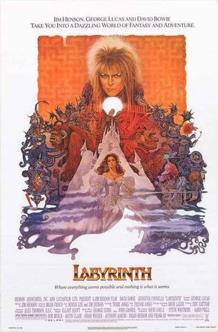 Labyrinth David Bowie Rare Vintage Poster