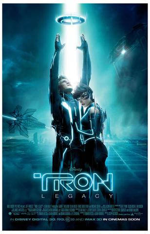 Tron: Legacy Sam and Quorra   Rare Vintage Poster