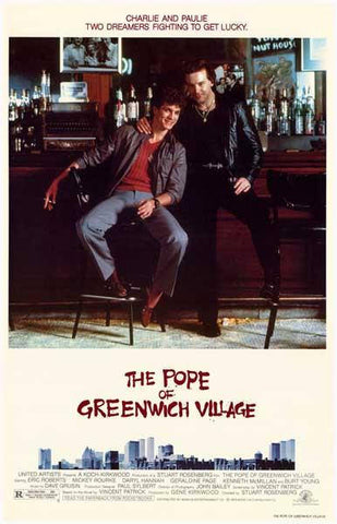 The Pope of Greenwich Village Mickey Rourke Movie   Rare Vintage Poster
