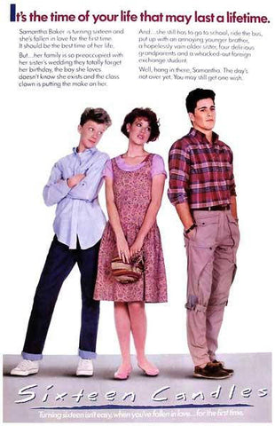 Sixteen Candles Movie Rare Vintage Poster