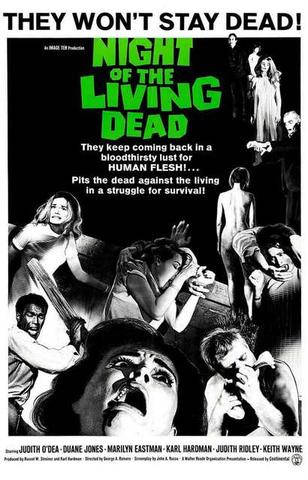 Night of the Living Dead Movie Rare Vintage Poster