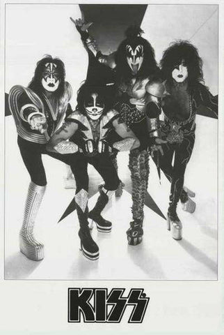 KISS Band Portrait  Rare Poster