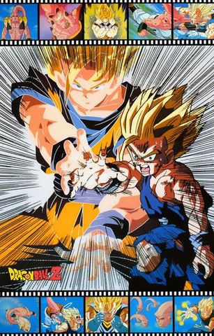 Dragon Ball Z Vegeta Action   Rare Vintage Poster