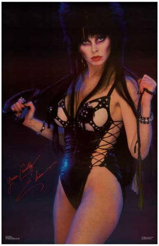 Elvira Mistress of the Dark   Rare Vintage Poster