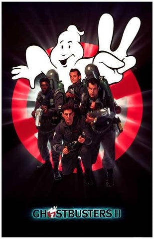Ghostbusters II Movie Cast Rare Vintage Poster