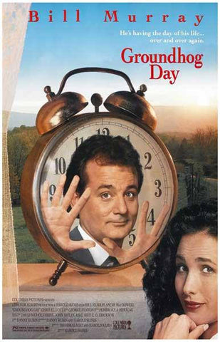 Groundhog Day Bill Murray Movie Rare Vintage Poster
