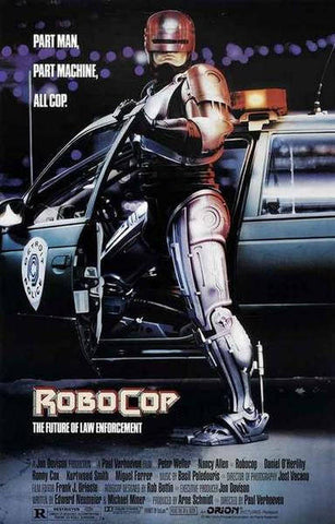 Robocop Part Man Part Machine  Rare Vintage Poster