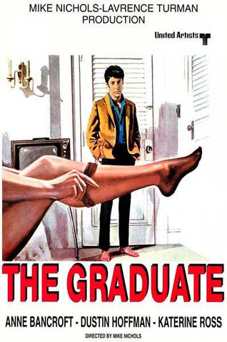 The Graduate Dustin Hoffman Movie  Rare Vintage Poster