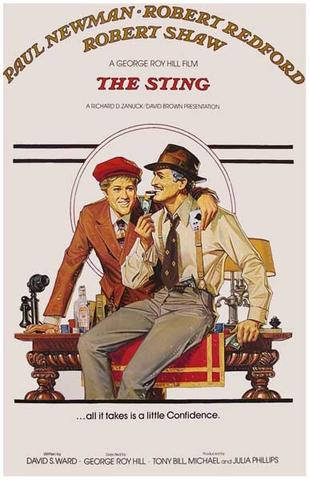 The Sting Paul Newman Robert Redford Movie Rare Vintage Poster
