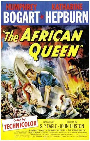 The African Queen Humphrey Bogart Katharine Hepburn Movie Rare Vintage Poster