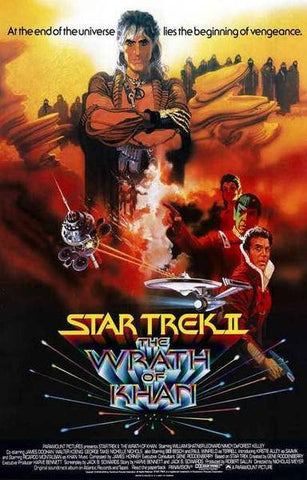 Star Trek II: The Wrath of Khan Movie Rare Vintage Poster