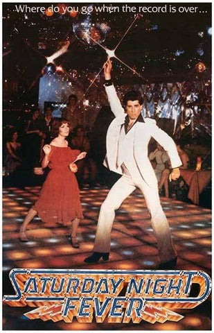 Saturday Night Fever Movie  Rare Vintage Poster