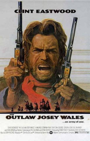 Outlaw Josey Wales Clint Eastwood Movie Rare Vintage Poster
