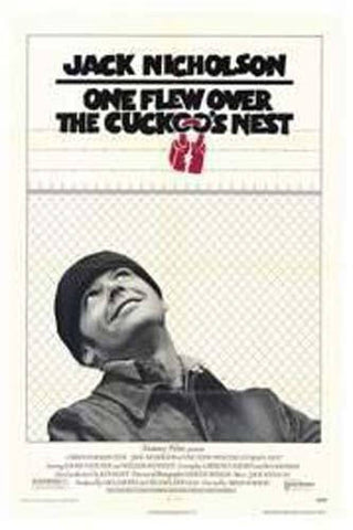 One Flew Over the Cuckoo's Nest Movie Rare Vintage Poster