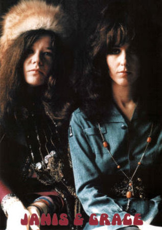 Janis Joplin and Grace Slick  Rare Poster