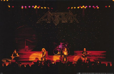 Anthrax Live On Stage Rare Poster