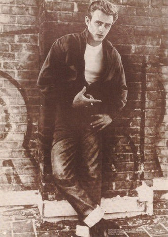 James Dean Brick Wall Sepia Rare Poster