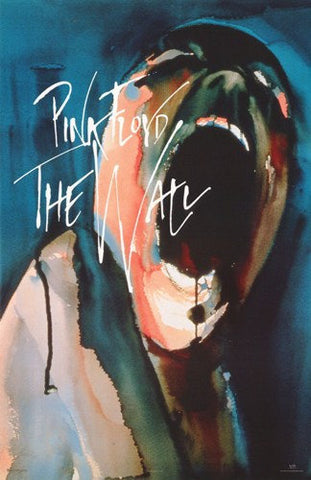 Pink Floyd The Wall Screaming Head Rare Poster