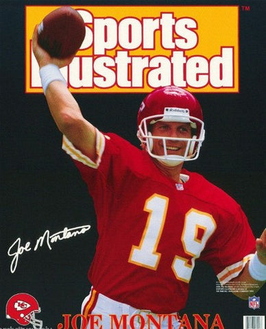 Joe Montana Kansas City Chiefs Rare Poster