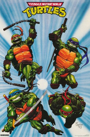 Teenage Mutant Ninja Turtles Rare Poster