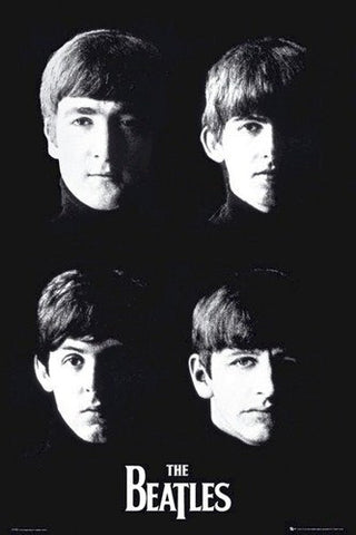 The Beatles Faces B/W  Rare Poster