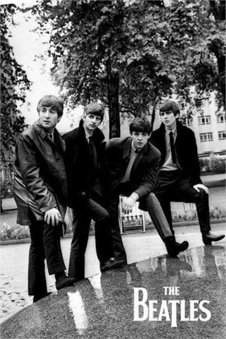 The Beatles In The Park B/W  Rare Poster
