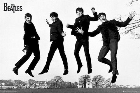 The Beatles Jump B/W  Rare Poster
