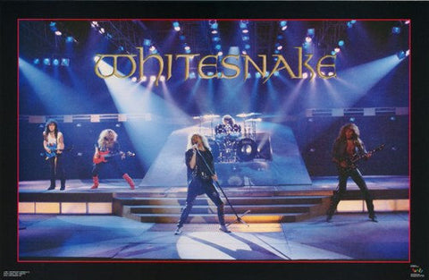 Whitesnake On Stage Live Rare Poster