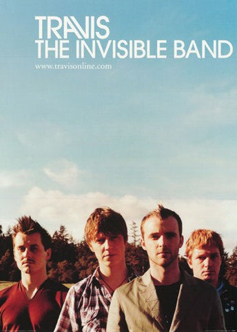 Travis The Invisible Band Rare Poster