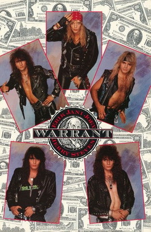 Warrant Band Members Collage Rare Poster