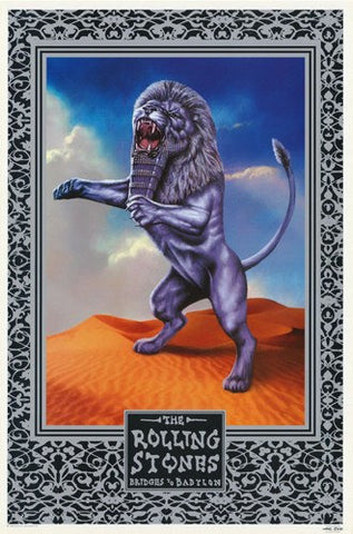 Rolling Stones Bridges To Babylon Rare Poster