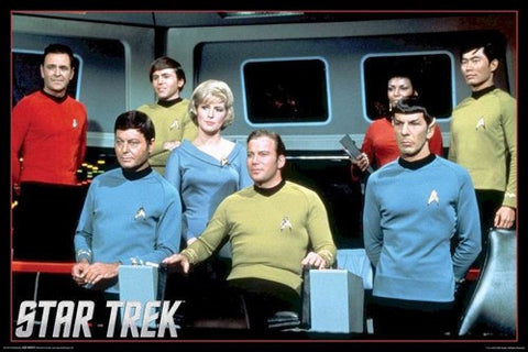 Star Trek TV Series Original Cast   Rare Poster