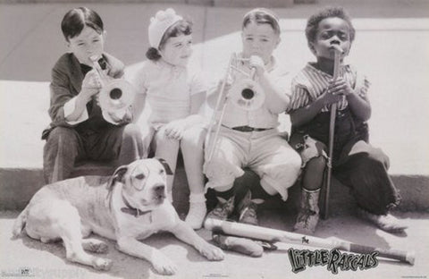 The Little Rascals B/W Rare Poster