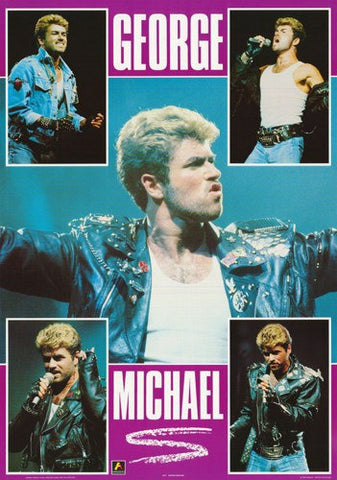 Wham! George Michael Collage 1988 Rare Poster