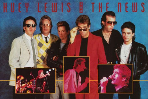 Huey Lewis and The News Collage Rare Poster