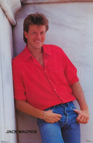 Jack Wagner 1986  Rare Poster