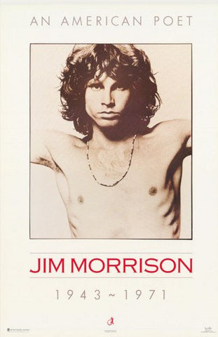 The Doors Jim Morrison An American Poet  Rare Poster