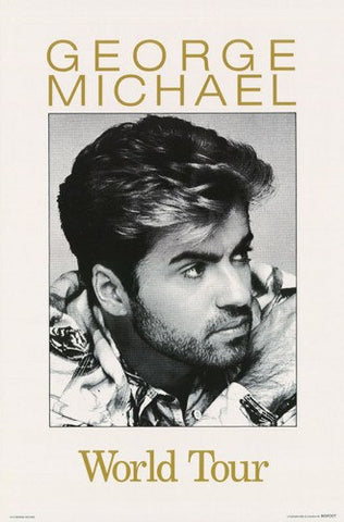 George Michael World Tour Rare Poster