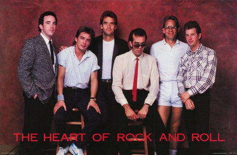 Huey Lewis and The News Heart Of Rock n Roll Rare Poster