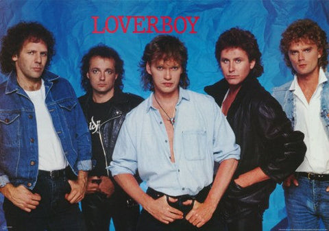 Loverboy Band 1986 Rare Poster