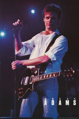 Bryan Adams On Stage Live 1985 Rare Poster