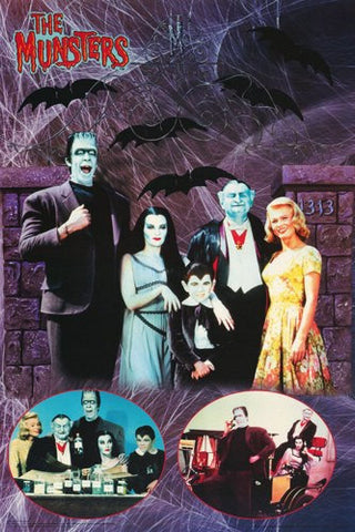 The Munsters 60's TV Show  Rare Vintage Poster