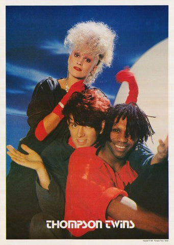 Thompson Twins 1984  Rare Vintage Poster