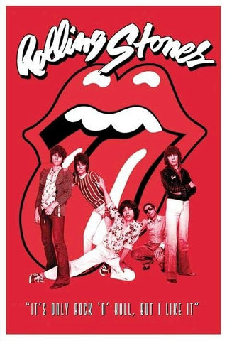 Rolling Stones  It's Only Rock n Roll  Rare Vintage Poster