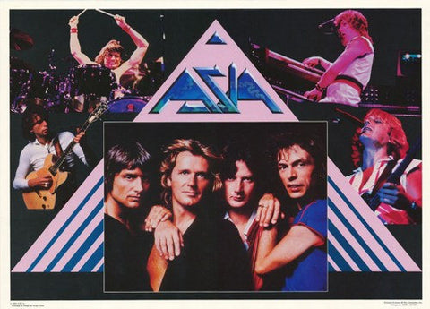 Asia Band 1983  Rare Vintage Poster