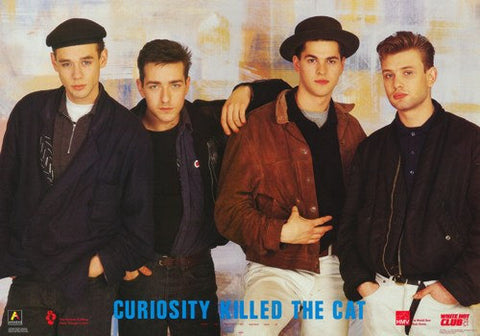 Curiosity Killed The Cat Group 1987 Rare Vintage Poster
