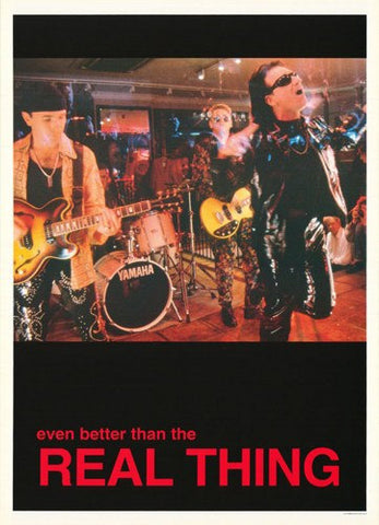 U2 Even Better Than The Real Thing  Rare Vintage Poster