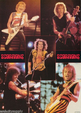 The Scorpions Live Collage 1984  Rare Vintage Poster