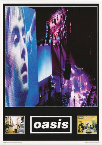 Oasis Montage  Rare Vintage Poster